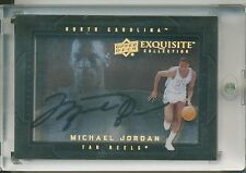 MICHAEL JORDAN 2011-12 UD Exquisite Dimensions Shadowbox AUTO CHICAGO BULLS HOF