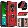 For Motorola Moto G7 Plus/Play/Power/Supra Shockproof Armor Case Stand Cover