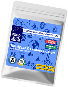 Food Supplies: Lightweight Dehydrated Pouched Dessert - Apple & Custard - 100g