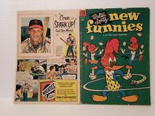 STAN MUSIAL Signed Vintage 1953 Woody Woodpecker Comic Book WHEATIES Ad. VG