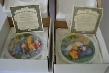 Vintage 1995 Bradford Exchange Disney Winnie The Pooh & Eeyore Set 2 3D Plates