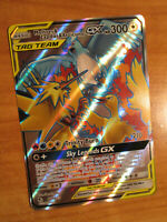 NM FULL ART Pokemon MOLTRES & ZAPDOS & ARTICUNO GX Card HIDDEN FATES Set 66/68