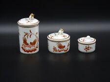 Richard Ginori Decorative Lidded Containers Set of 3