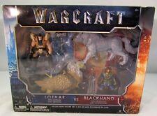 Warcraft - Lothar w/Gryphon vs. Blackhand w/Frostwolf Mini Figures Set - New
