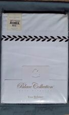 NWT YvesDelorme Embroidered Laurier King Duvet Cover in Chocolate Orig.625$