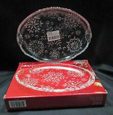 "Mikasa Snowflake Clear Glass Sweet Dish 9.5"" Wy960/347 Japan Boxed"