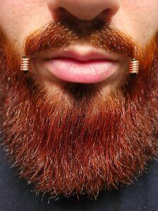 5 Pieces Spiral Copper Viking Hair Beads Beard Jewelry Dreadlock Hair Accessory