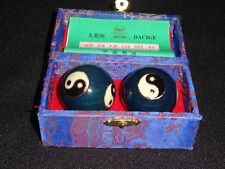 """CHINESE CHIMING THERAPY BALLS 1 5/8"""" WITH INSTRUCTIONS"""