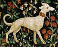 10% off Scarlet Quince Counted X-stitch chart-Cluny Tapestry Dog II-Large Print