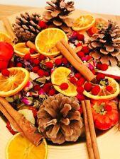 Bespoke Natural Festive Christmas Pot Pourri Sweet Orange Festive Scent 750ml