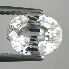3.08 ct  EXCELLENT - RARE SPARKLING NATURAL WHITE ZIRCON - OVAL _ 3019