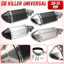 38-51mm Motorcycle Carbon Exhaust Muffler Pipe Remove Silencer Dirt Bike