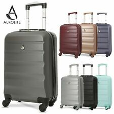 Aerolite Ryanair 55x35x20cm Suitcase Hard Shell Carry On Cabin Bag Hand Luggage