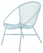 Outdoor Wicker Chair - Pastel blue - looks just as good indoors