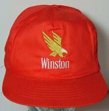 Vintage 1990s Winston Cigarettes Tobacco Smoking Advertising Snapback Hat Cap