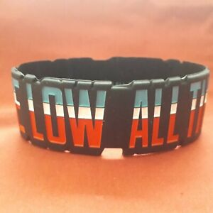 OFFICIAL LICENSED - ALL TIME LOW - STRIPEY - RUBBER WRISTBAND - POP PUNK EMO