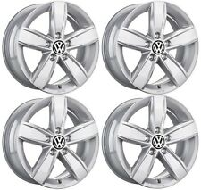 "SET OF FOUR GENUINE VW AMAROK 16"" CORVARA ALLOY WHEELS 5X120 PCD TRANSPORTER T5"