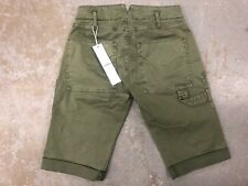 HUDSON Women's The Leverage Cargo Shorts, GREEN Forester NWT SIZE 25