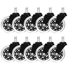 10 Pack Heavy Duty Soft Office Chair Stem Caster Wheels Roller 3inch Replacement