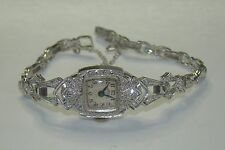 Vintage 1940's Hamilton Platinum & 1.13tcw Diamond Lady's Cocktail Dress Watch