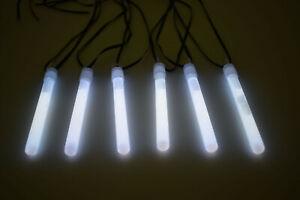 25ct DirectGlow 4 inch White Glow Sticks with Lanyards 10-12+ Hour Glow