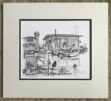 """Christopher Paul Bollen """"Reflections Of Easy Living"""" Matted Print Lake Union"""