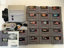 Super Nintendo (SNES) Version 2 Model With 19 Games - SNES Lot