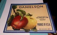 Danielson Brand R M Danielson & Son Walla Walla Washington Label