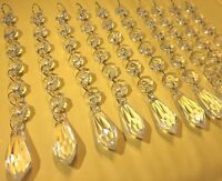 30pc Acrylic Crystals Chandelier Lead Lamp Prisms Parts Hanging Pendent Garland