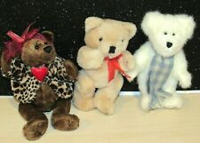 "Lot of 3 TEDDY Bears w/DanDee & Boyds 8"" Tall  NICE SET"