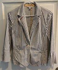 Cabi Womens Jacket Size Sz 8 M Striped Blazer Classic
