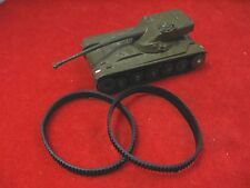 French Dinky Tank Treads for  817 or 80C AMX Tank, Black Rubber Tracks, Pair