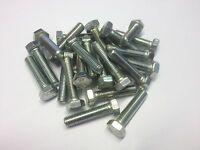 QTY 20 M4 X 16 HEX SET BOLTS FULLY THREADED 8.8 HIGH TENSILE BRIGHT ZINC PLATED