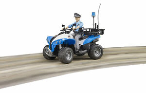 Bruder Police Quad & Policeman Emergency Vehicles Toy Kids Model Scale 1:16