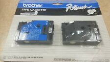 Brother TC-20 Black On White Tape 2 Pack