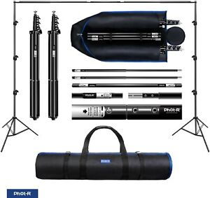 Phot-R 3x3m PRO Studio Background Support System + Carry Case, backdrop