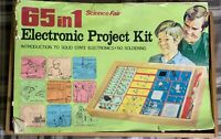 Vintage Science Fair 65 in 1 Electronic Project Kit Works See Video