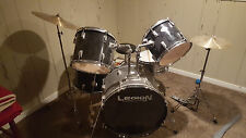 5pc Legion Drum Set w/ Cymbals, Black with Chrome