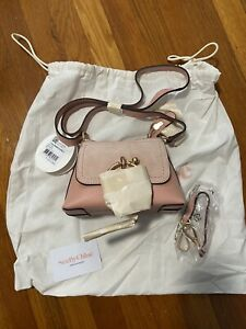 NWT See By Chloe Joan Mini Leather & Suede Hobo - Fallow Pink