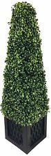 Artificial Boxwood Tower Plant Fake Tree Indoor Outdoor Home Garden Decor 81cm