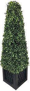 Artificial Boxwood Tower Plant 81cm Fake Tree Indoor Outdoor Home Garden Decor