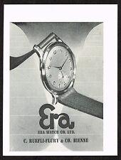 1950s Vintage 1951 Era Swiss Watch Print Ad