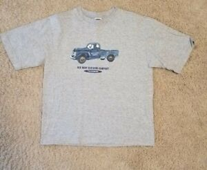 Old Navy Boys Large Gray Short Sleeve T-Shirt Old Blue Truck EUC