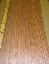 "Etimoe African Quartered wood veneer 10"" x 20"" raw no backing 1/42"" thickness"