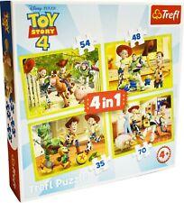 "Trefl - ""Toy Story 4"" 4 in 1 (35, 48, 54, 70 Pieces) Jigsaw Puzzle - Brand New"
