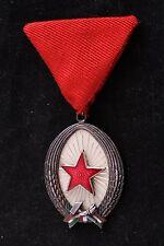 Hungary Hungarian Order Labor Work Silver 2 II Medal Communist Soviet Rivet Back