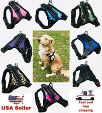 Pet Dog Puppy Harness Vest Adjustable Reflective No Choke Pull with handle S M L
