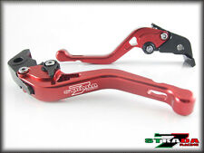 Strada 7 Short Adjustable CNC Levers Honda CB599 CB600 HORNET 1998 - 2006 Red
