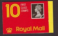 GREAT BRITAIN - 1989 MACHIN 1st CLASS X10 BARCODE BOOKLET CYL.B3  SG.HD1