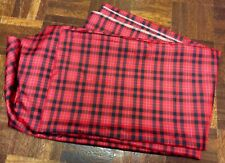 Two Metres Of Crisp And Lightweight Red Tartan Acetate Fabric
